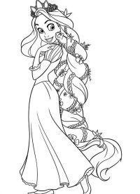 stampa e colora disegno disney rapunzel Archives - Disegni ...