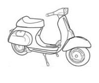 Immagini Vespa 50 Da Colorare Due Moto Piaggio Vespa