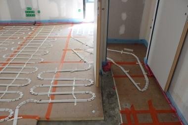 Dalle coulée + isolation pour plancher chauffant électrique