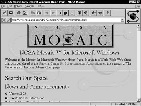 Primer navegador Web Mosaic