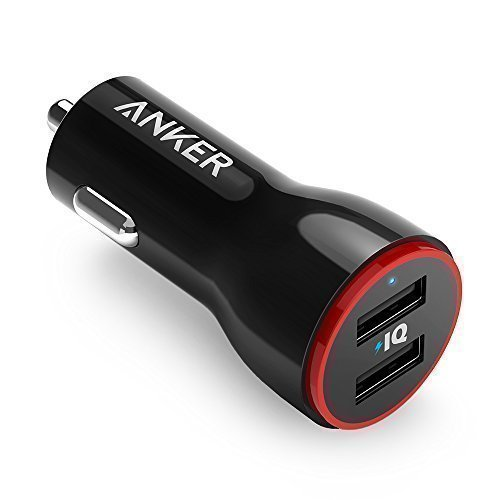 Anker 24W Dual USB Car Charger, PowerDrive 2 for iPhone 7 / 6s / Plus, iPad Pro / Air 2 / mini, Galaxy S7 / S6 / Edge / Plus, Note 5 / 4, LG, Nexus, HTC and More