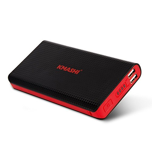 KMASHI 15000mAh Portable Power Bank with Dual USB 3.1A Output and 2A Input