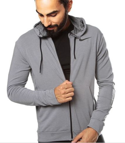 Nike: Chaqueta gris Training Fleece Fz Hdy