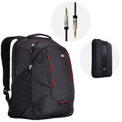 Combo Case Logic Morral+Funda+Cable
