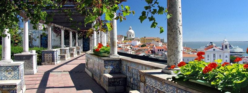 Miradores de Lisboa: Santa Lucía