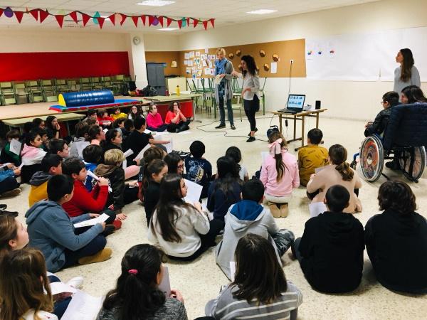 """Disfrutar el Mar realiza el """"Taller de Diversidad"""" en el Colegio de Nuestra Señora de Latas de Ribamontán al Mar"""