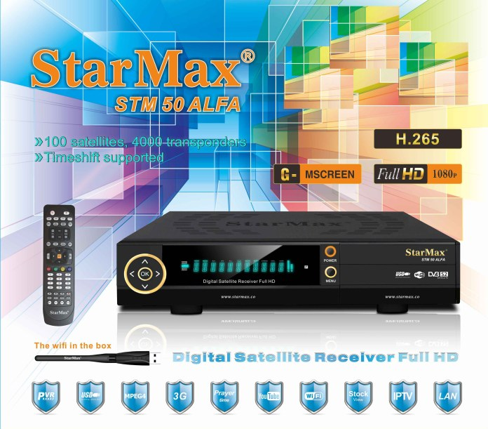 StarMax STM 50 ALFA Full HD Receiver New Software