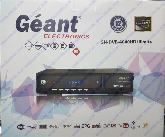 GEANT GN-DVB 4040 HD ILLIMITE SOFTWARE