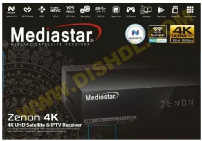 MEDIASTAR ZENON 4K UHD SOFTWARE UPDATE