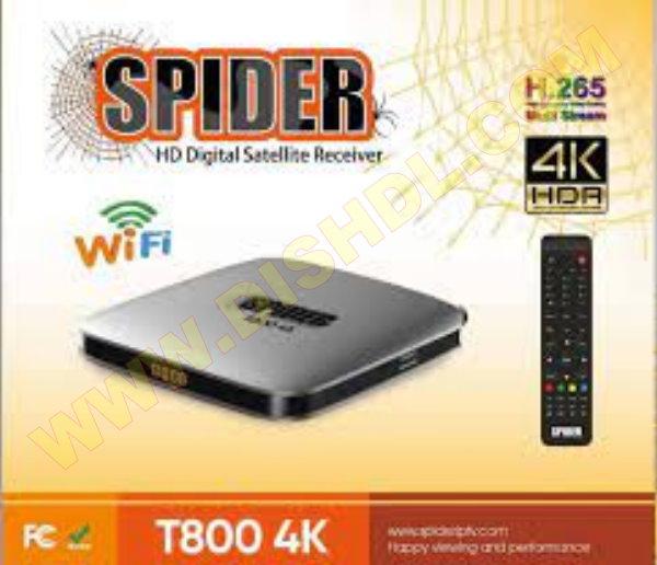 SPIDER T800 4K NEW SOFTWARE UPDATE