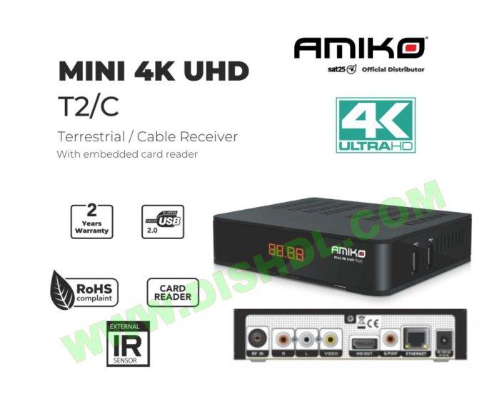 AMIKO MINI 4K UHD T2C NEW SOFTWARE UPDATE