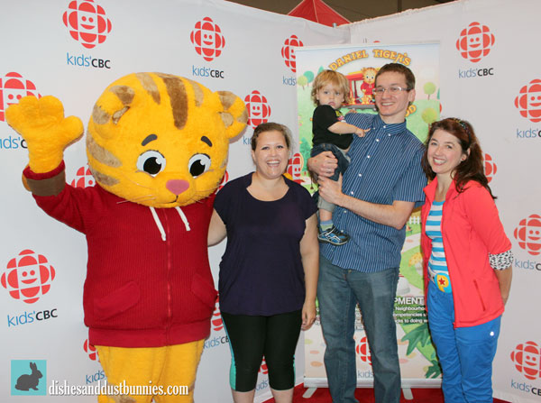 Getting to meet Daniel Tiger and Patty Sullivan