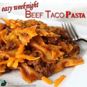 Easy Weeknight Beef Taco Pasta