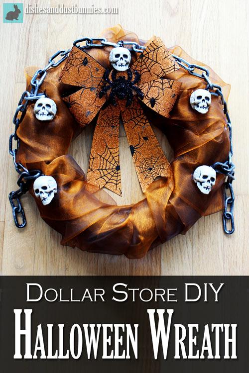 Dollar Store DIY Halloween Wreath