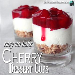 Easy No Bake Cherry Dessert Cups