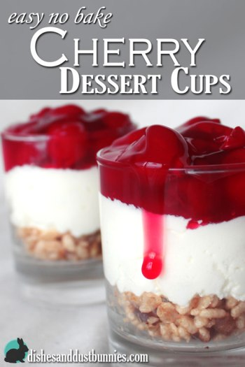 Easy No Bake Cherry Dessert Cups