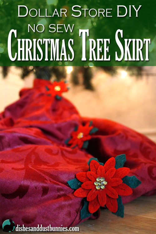 Dollar Store DIY Christmas Tree Skirt