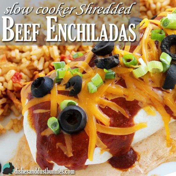 The Best Slow Cooker Shredded Beef Enchilada Recipe