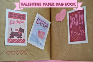 How to Make a Valentine Paper Bag Book - She Lives Free