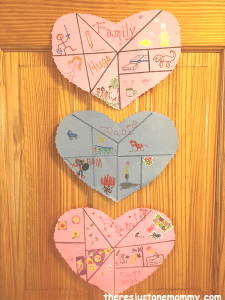 Heart Collage Craft - There's Just One Mommy