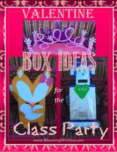 Valentine Box Ideas for the Class Party by Blooming With Joy
