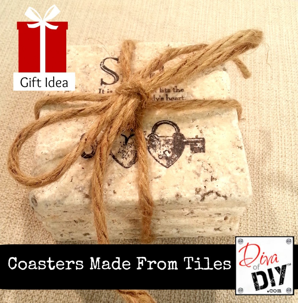How to Make Coasters Using Tiles - Diva of DIY