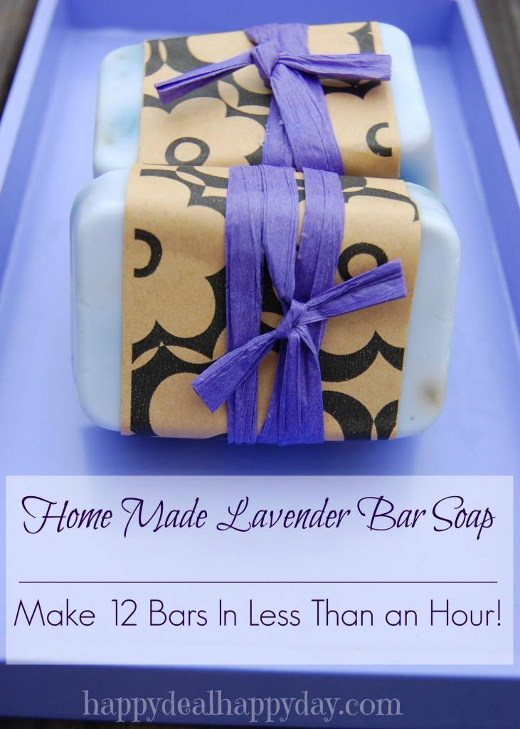 EASY Lavender Homemade Soap Recipe - Happy Deal Happy Day