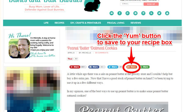 Click on the 'Yum' Button to add the recipe to your recipe box! :D