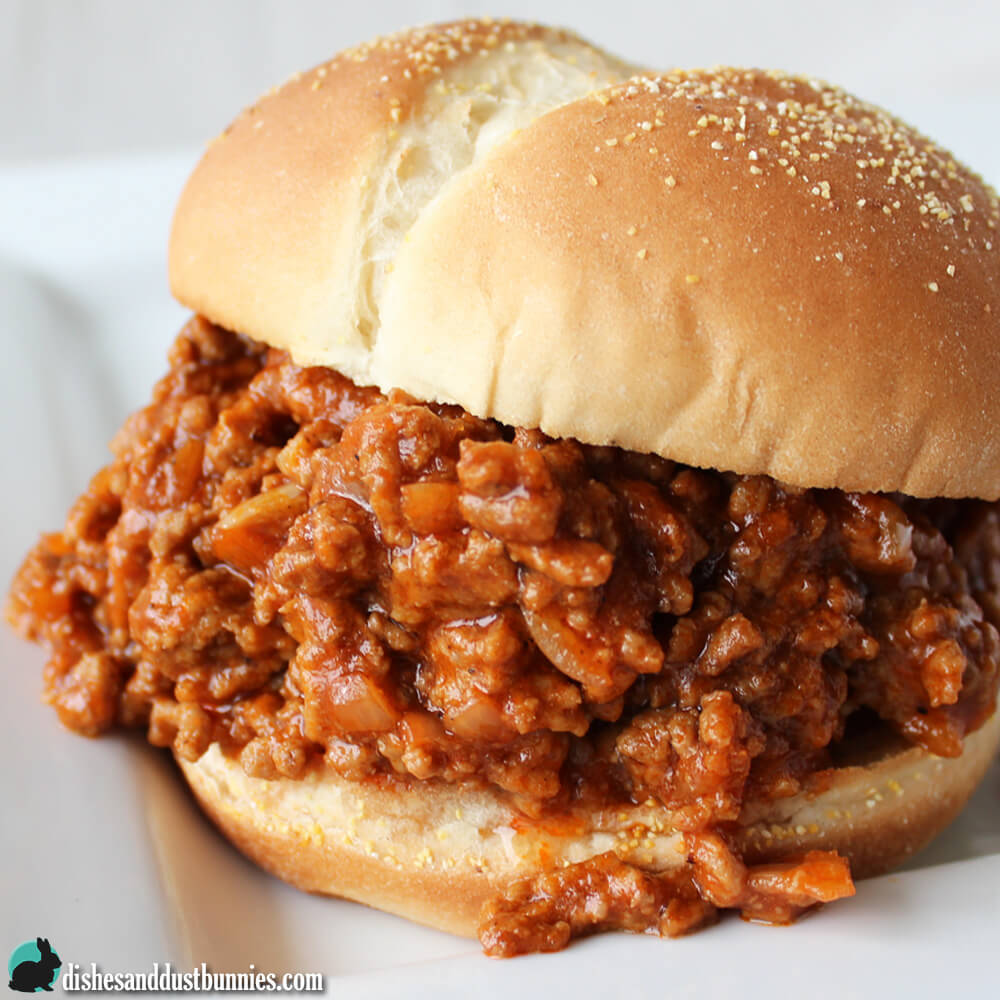Slow Cooker Sloppy Joes from Dishes & Dust Bunnies