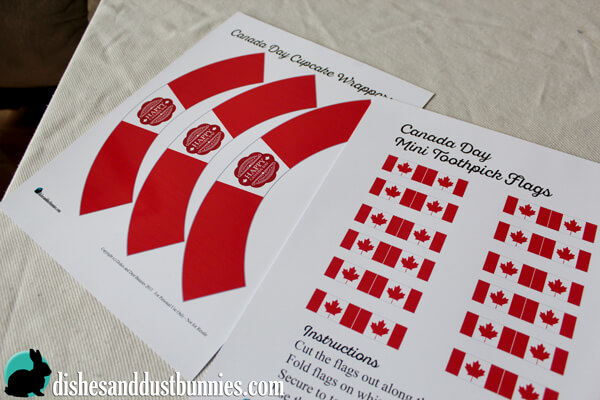 Canada Day Free Printable Cupcake Wrappers