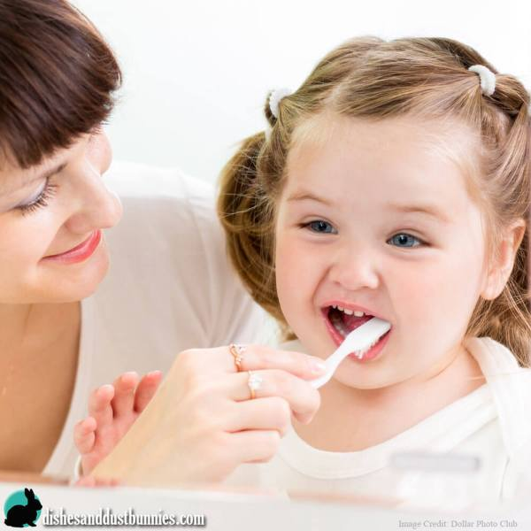 Get your Toddler to brush their teeth without a fuss! Make Brushing teeth fun with this trick!