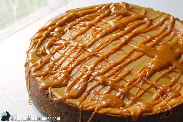 Pumpkin Cheesecake with Butterscotch Drizzle