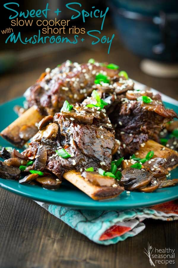 Sweet and Spicy Slow Cooker Short Ribs from Healthy Seasonal Recipes