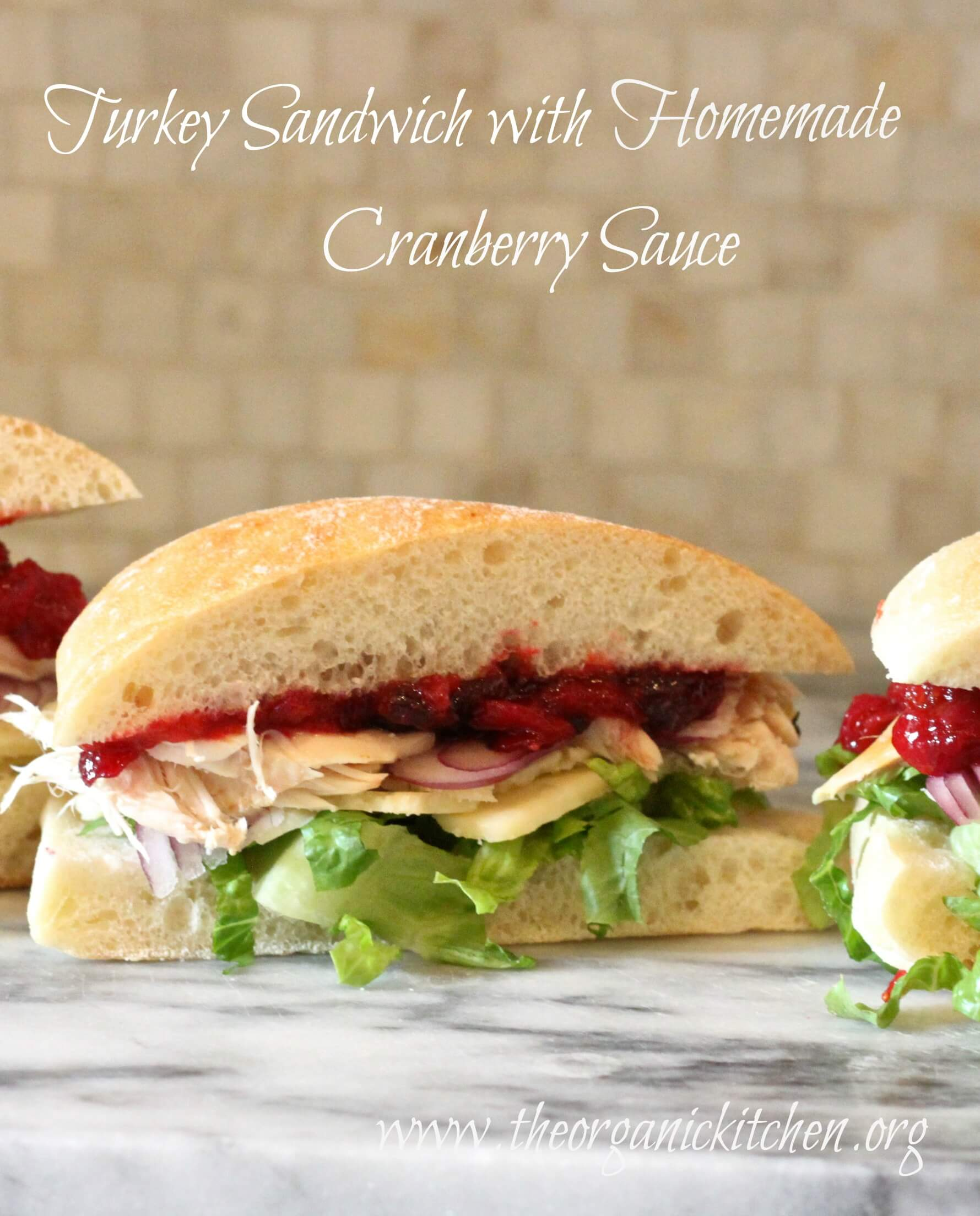 Turkey Sandwich with Homemade Cranberry Sauce from The Organic Kitchen