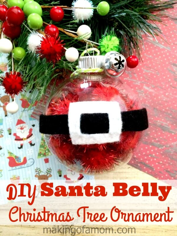 DIY Santa Belly Christmas Tree Ornament from Making of a Mom