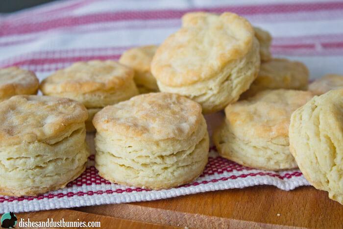 Flaky Buttermilk Biscuit Recipe from dishesanddustbunnies.com