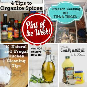 Pins of the Week Kitchen Tips from dishesanddustbunnies.com