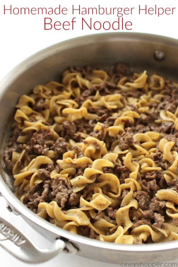Homemade Hamburger Helper Beef Noodle from Cincy Shopper