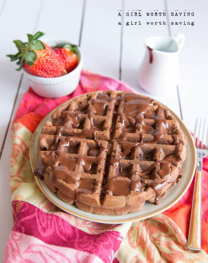 Paleo Chocolate Waffles from A Girl Worth Saving