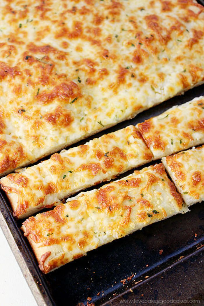 Cheesy Breadsticks from Love Bakes Good Cakes