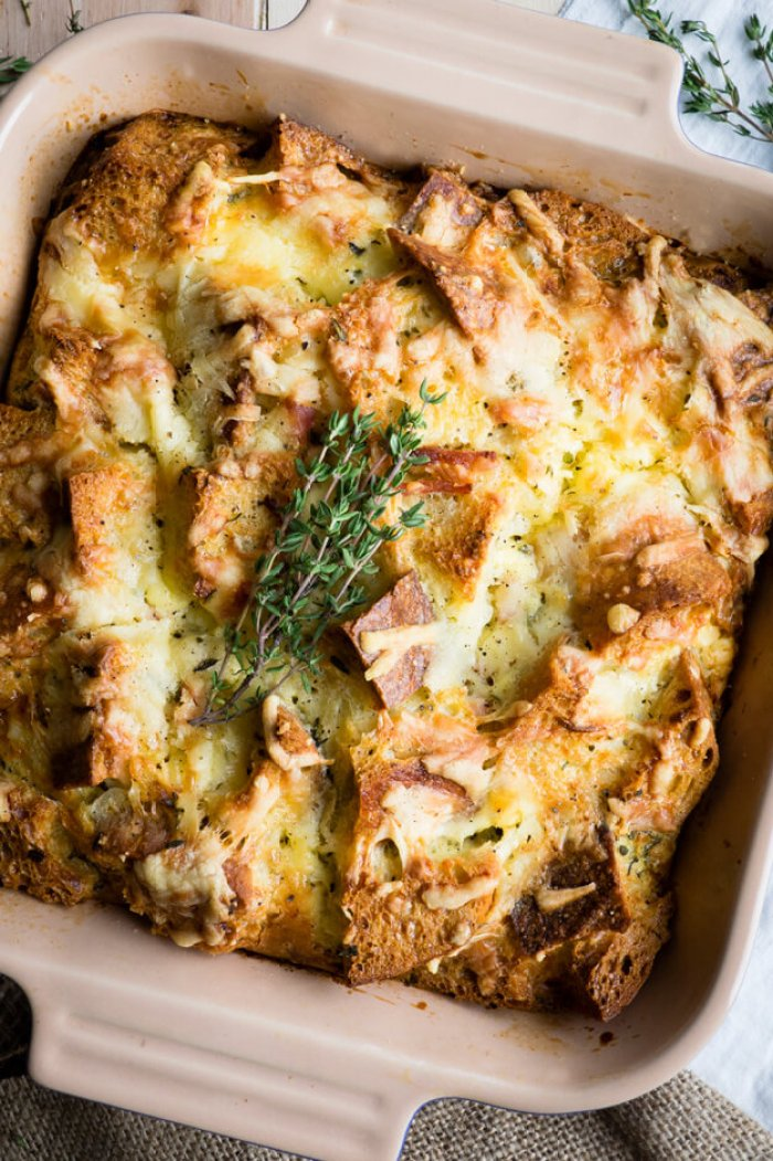 Savory Bread Pudding – Ham And Cheese Classic from The Worktop
