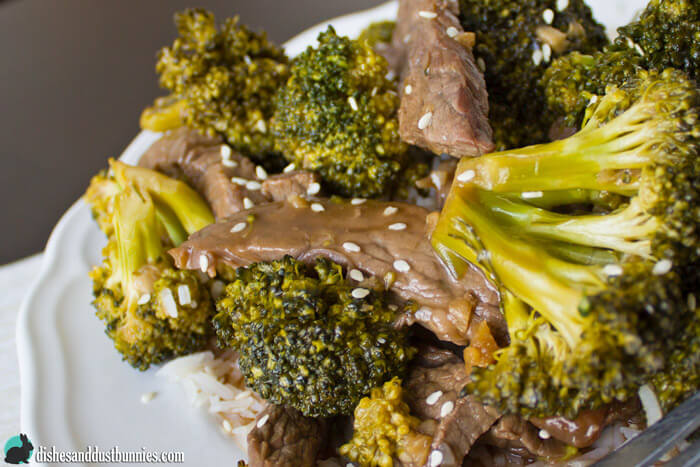 Restaurant Style Beef and Broccoli from dishesanddustbunnies.com