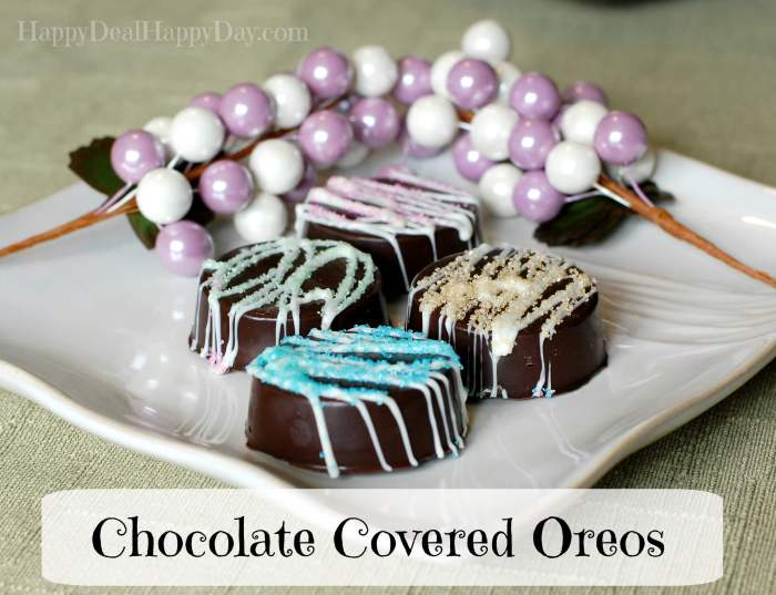 Chocolate Covered Oreos – Spring Version! from Happy Deal - Happy Day!