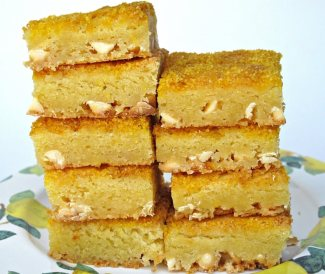 Chewy White Chocolate Lemon Bars from The Monday Box