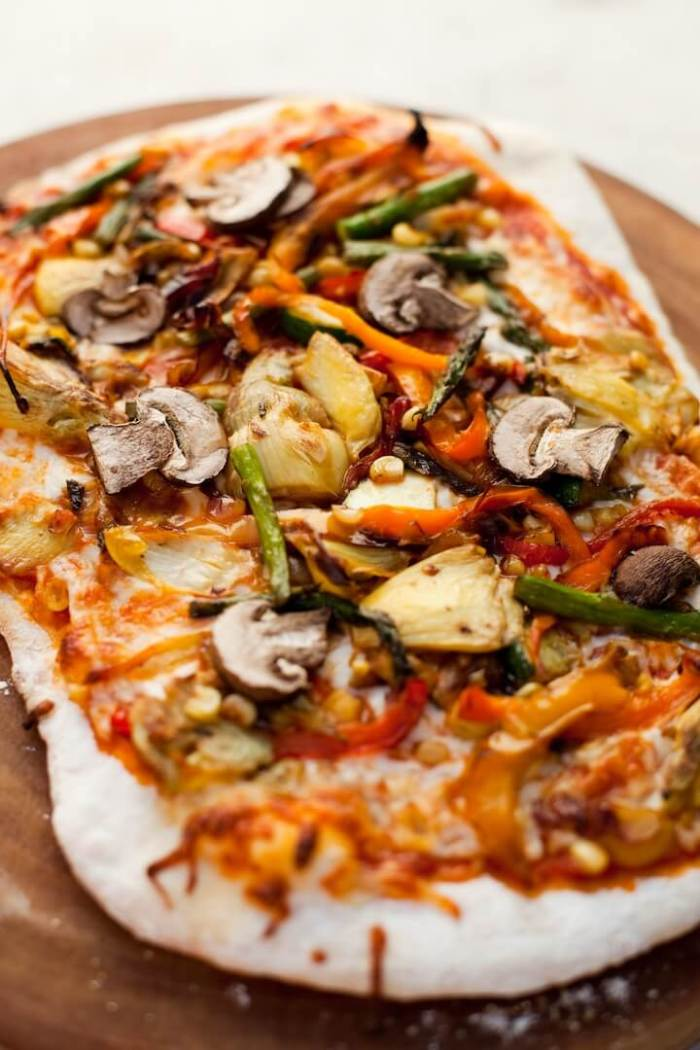 Homemade Grilled Veggie Pizza from The Organic Kitchen