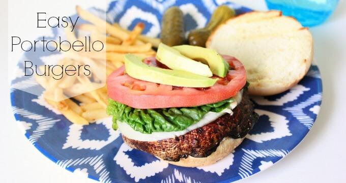 Easy Portobello Burgers from Sugar Crumbs