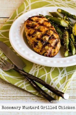 Rosemary Mustard Grilled Chicken or Zucchini from Kalyn's Kitchen