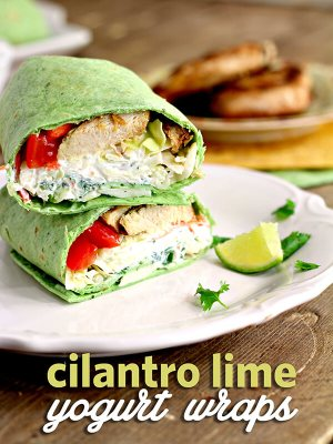 Cilantro Lime Yogurt Wraps from Wannabite