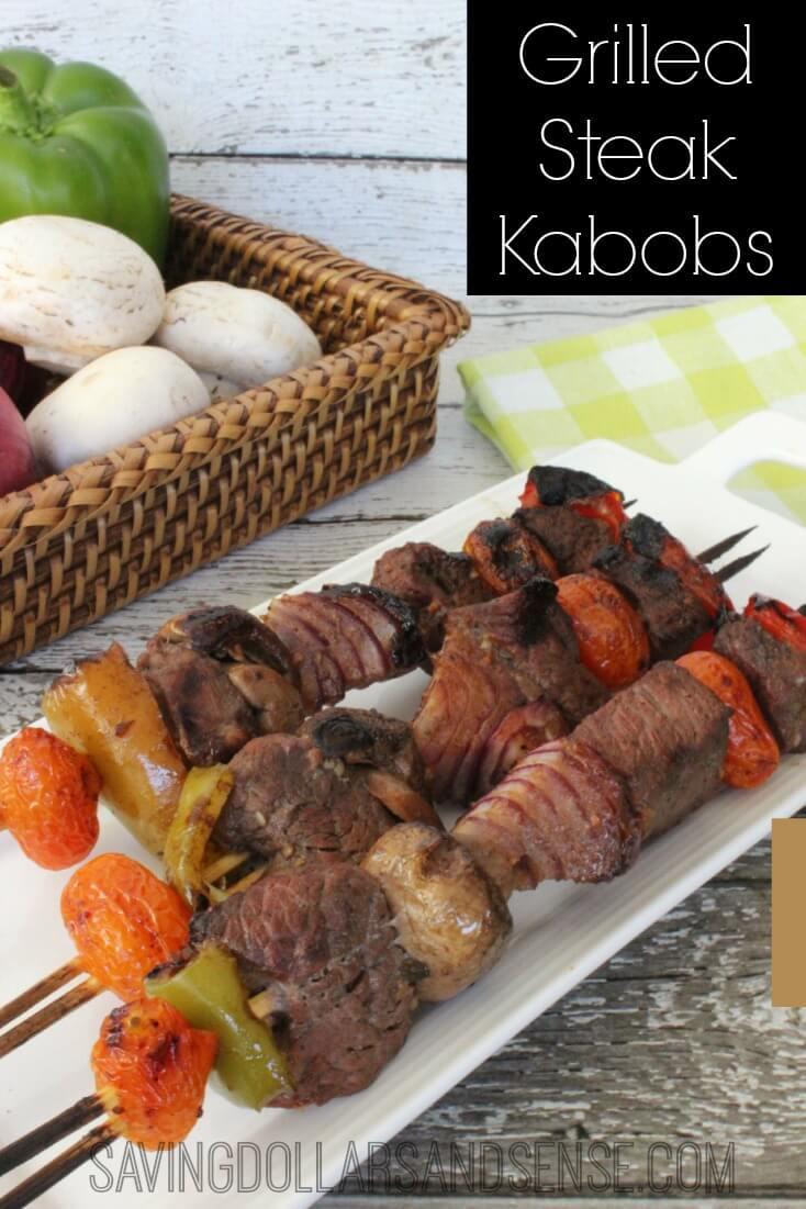 Grilled Steak Kabobs from Saving Dollars & Sense