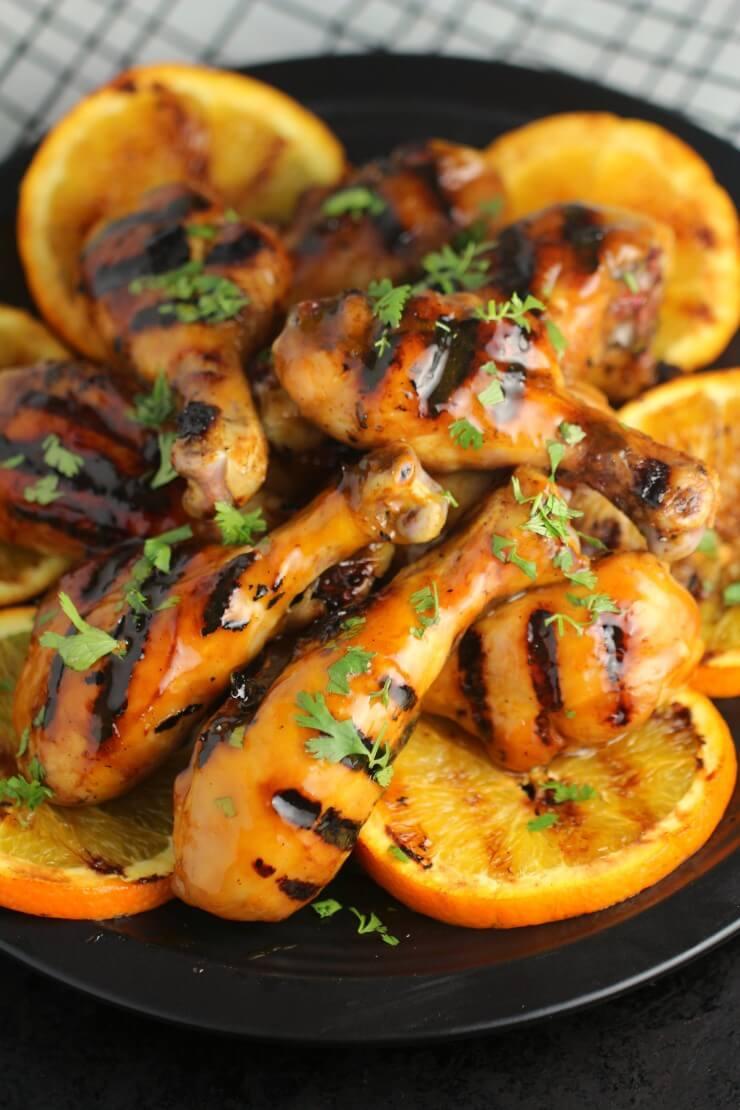 Orange Glazed BBQ Chicken Drumsticks from Frugal Momeh!